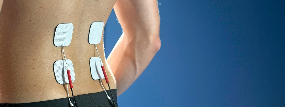 Electrical stimulation therapy for a herniated disc