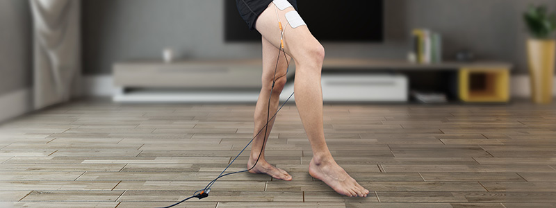 Electrotherapy after meniscus rupture